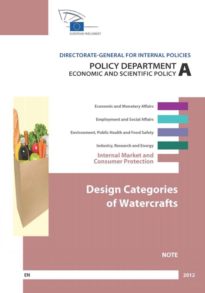 EP 2012 Design Categories of Watercrafts image